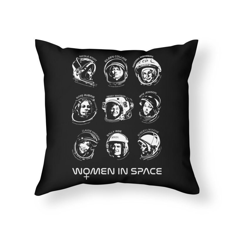 Women in Space combo Home Throw Pillow by Photon Illustration's Artist Shop