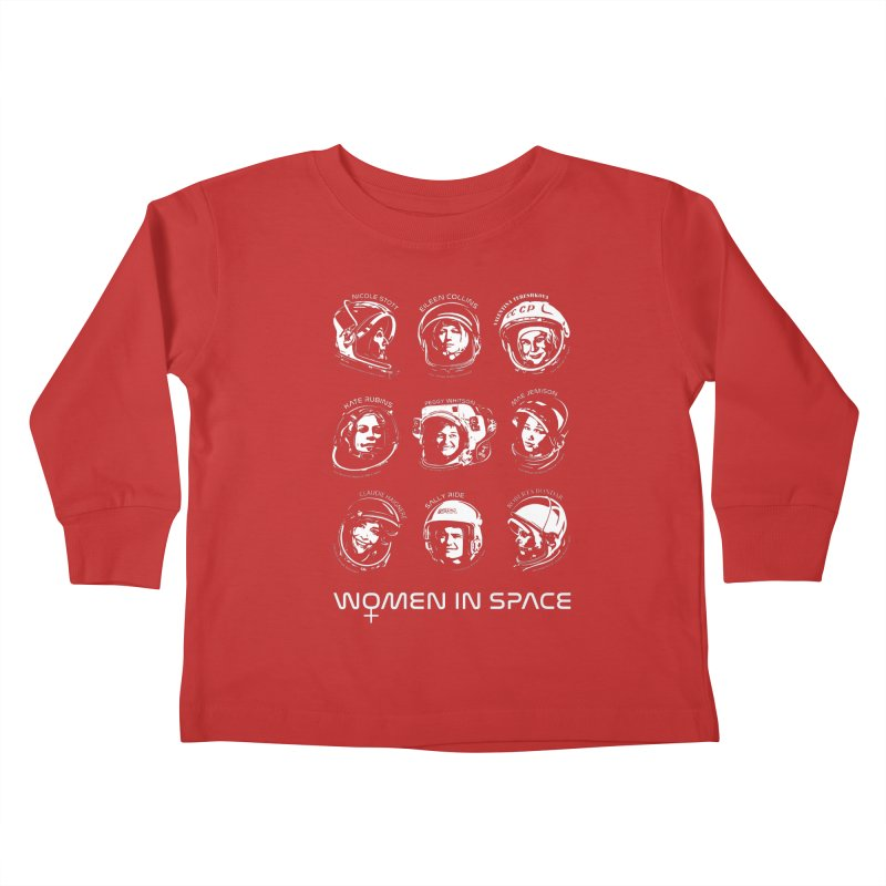 Women in Space combo Kids Toddler Longsleeve T-Shirt by Photon Illustration's Artist Shop