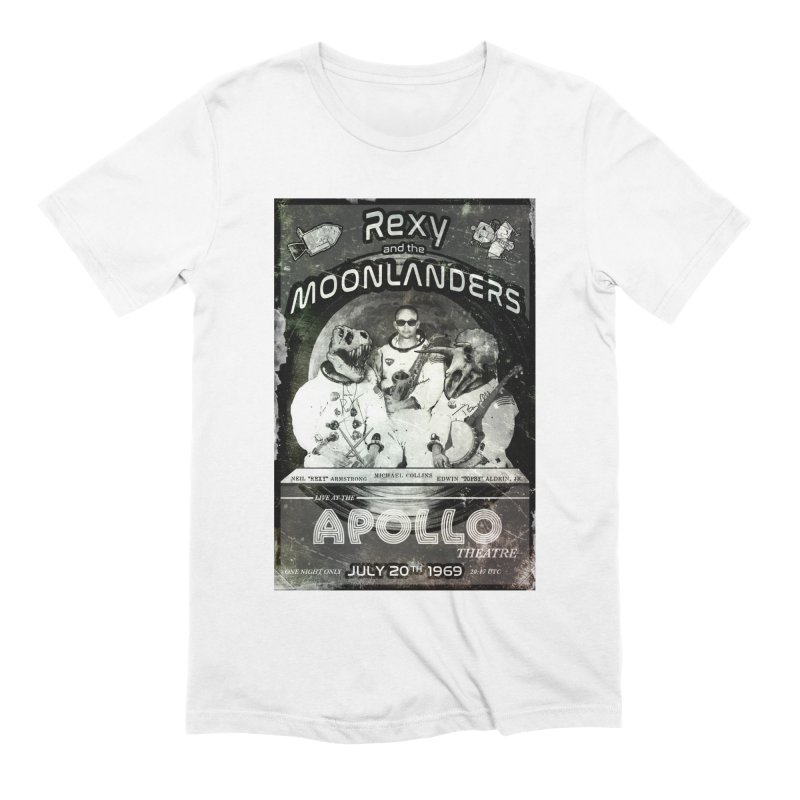 Rexy and the Moonlanders Men's Extra Soft T-Shirt by Photon Illustration's Artist Shop