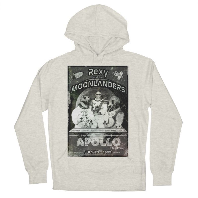 Rexy and the Moonlanders Men's French Terry Pullover Hoody by Photon Illustration's Artist Shop