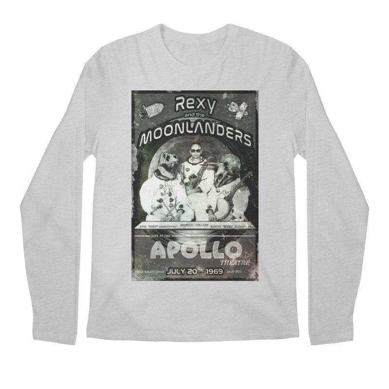 Rexy and the Moonlanders Men's Regular Longsleeve T-Shirt by Photon Illustration's Artist Shop