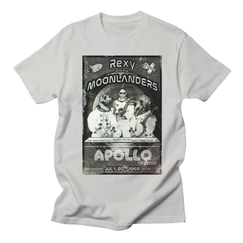 Rexy and the Moonlanders Men's Regular T-Shirt by Photon Illustration's Artist Shop