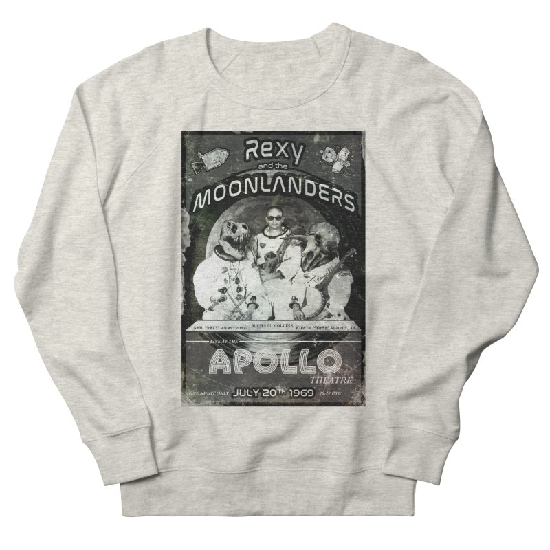 Rexy and the Moonlanders Men's French Terry Sweatshirt by Photon Illustration's Artist Shop