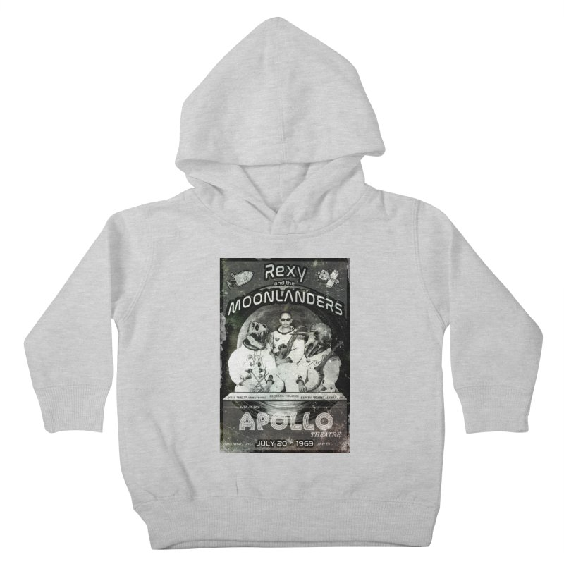 Rexy and the Moonlanders Kids Toddler Pullover Hoody by Photon Illustration's Artist Shop