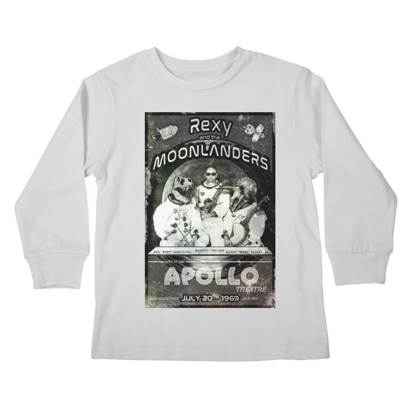 Rexy and the Moonlanders Kids Longsleeve T-Shirt by Photon Illustration's Artist Shop