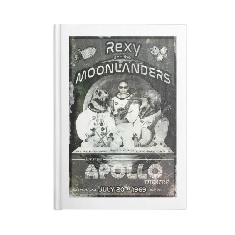Rexy and the Moonlanders Accessories Notebook by Photon Illustration's Artist Shop
