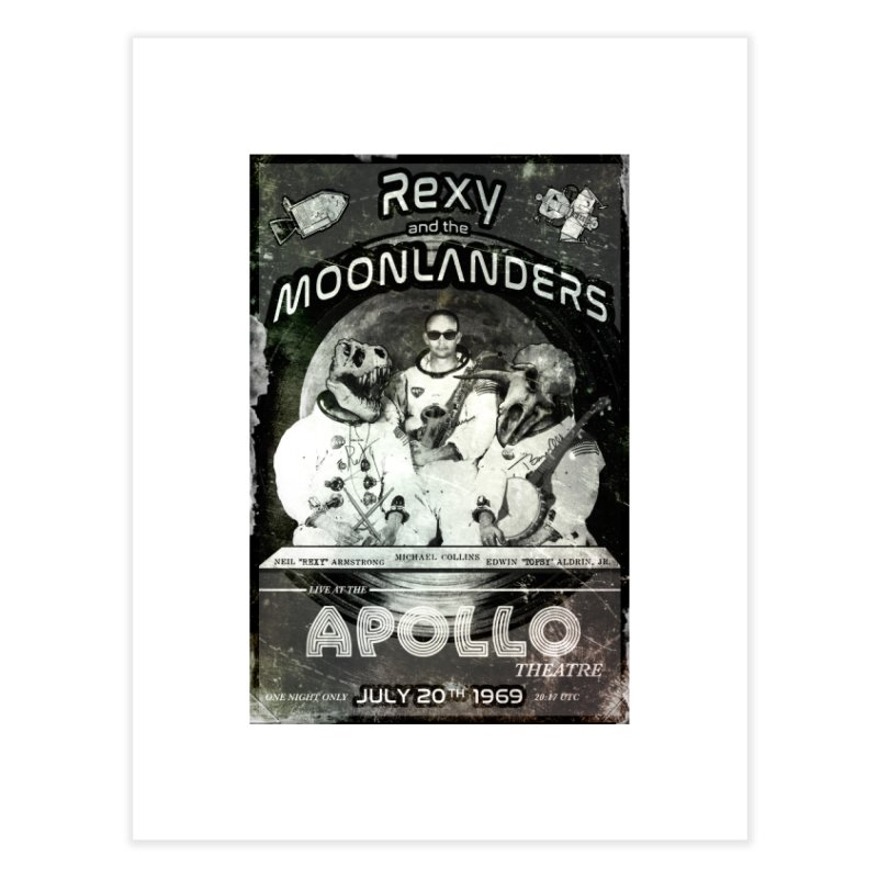 Rexy and the Moonlanders Home Fine Art Print by Photon Illustration's Artist Shop