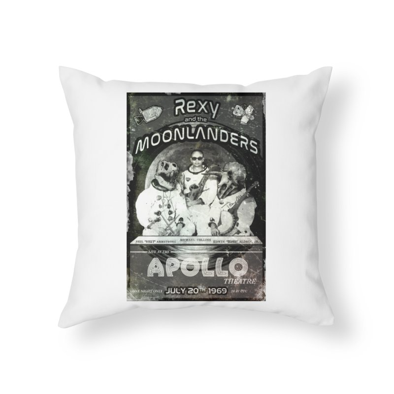 Rexy and the Moonlanders Home Throw Pillow by Photon Illustration's Artist Shop