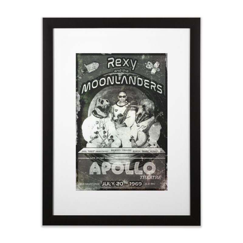 Rexy and the Moonlanders Home Framed Fine Art Print by Photon Illustration's Artist Shop