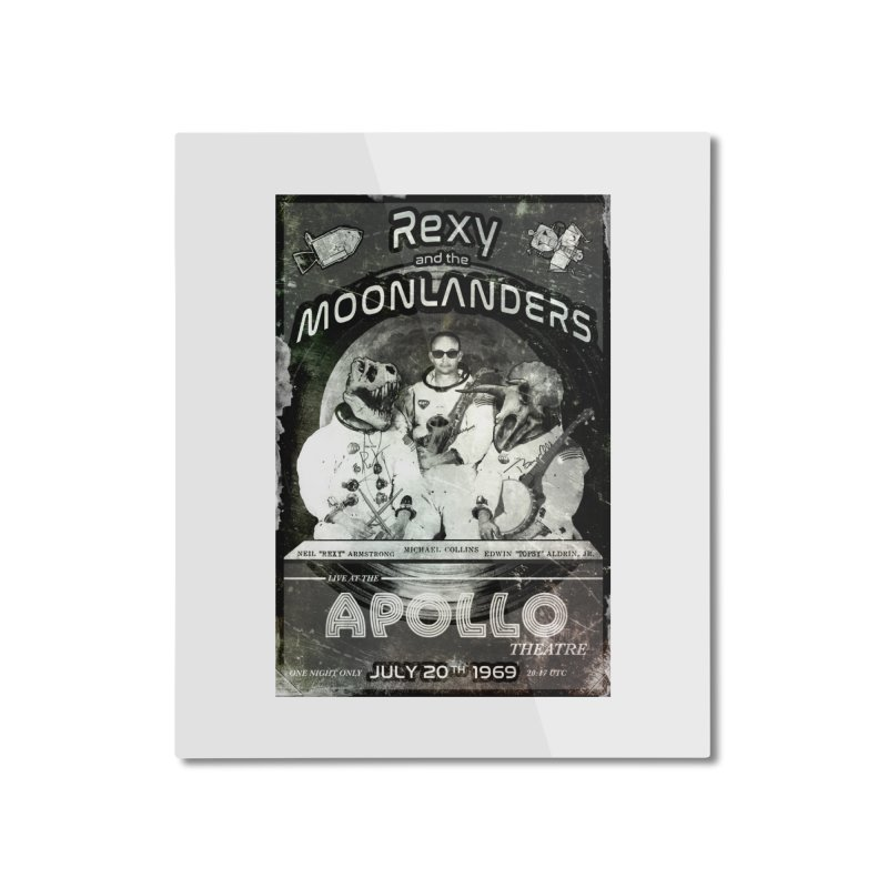 Rexy and the Moonlanders Home Mounted Aluminum Print by Photon Illustration's Artist Shop