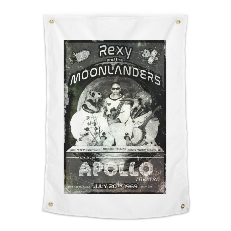 Rexy and the Moonlanders Home Tapestry by Photon Illustration's Artist Shop