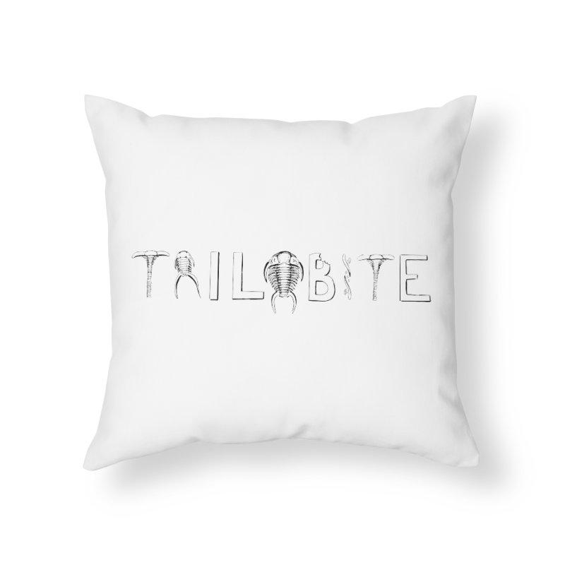 TriloBITE Home Throw Pillow by Photon Illustration's Artist Shop
