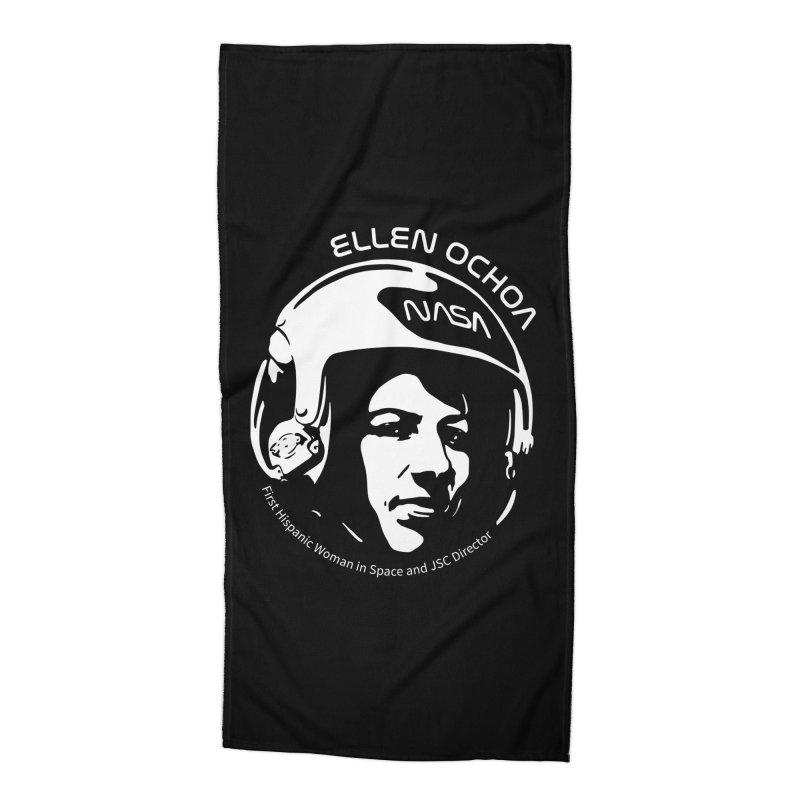 Women in Space: Ellen Ochoa Accessories Beach Towel by Photon Illustration's Artist Shop