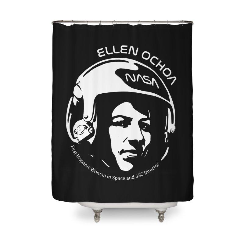 Women in Space: Ellen Ochoa Home Shower Curtain by Photon Illustration's Artist Shop