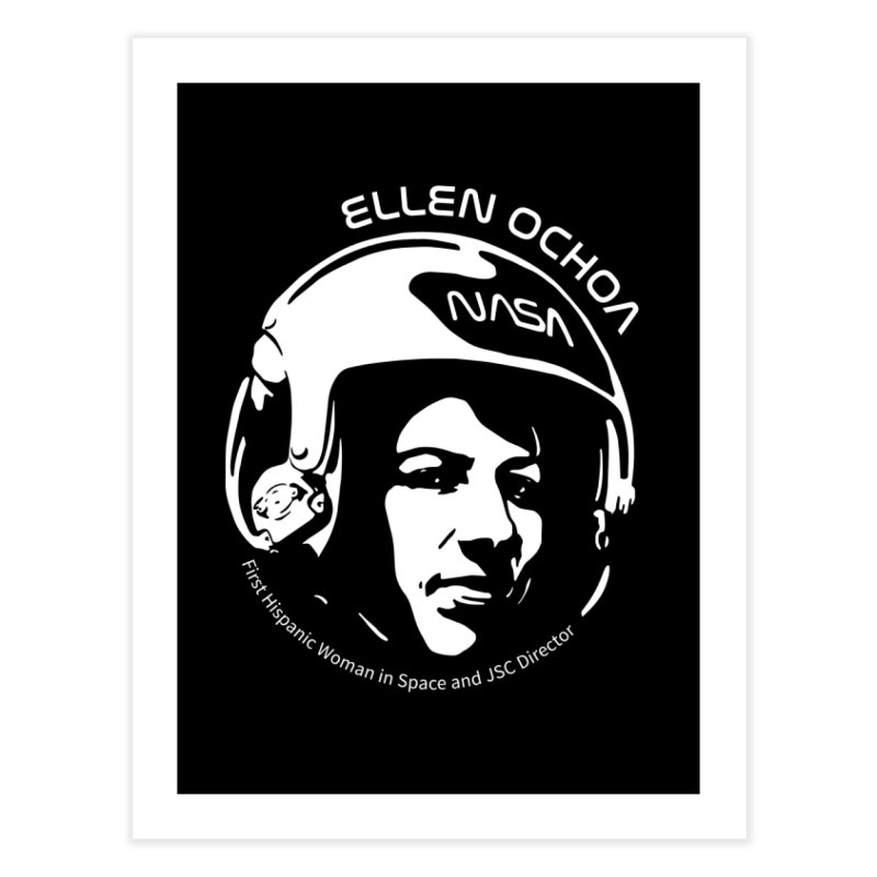 Women in Space: Ellen Ochoa Home Fine Art Print by Photon Illustration's Artist Shop