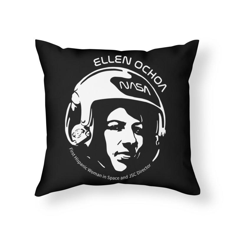 Women in Space: Ellen Ochoa Home Throw Pillow by Photon Illustration's Artist Shop