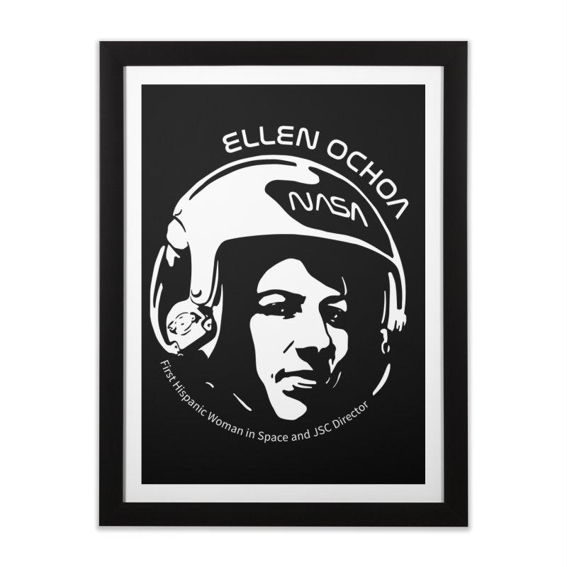 Women in Space: Ellen Ochoa Home Framed Fine Art Print by Photon Illustration's Artist Shop