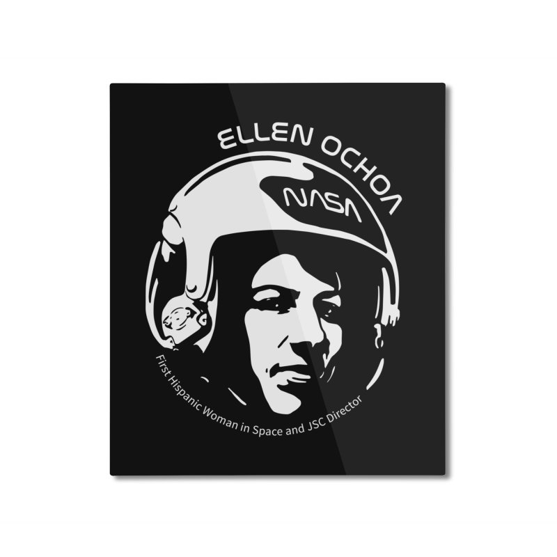 Women in Space: Ellen Ochoa Home Mounted Aluminum Print by Photon Illustration's Artist Shop