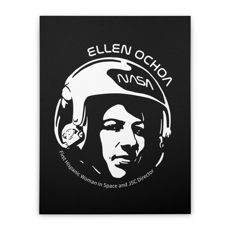 Women in Space: Ellen Ochoa Home Stretched Canvas by Photon Illustration's Artist Shop