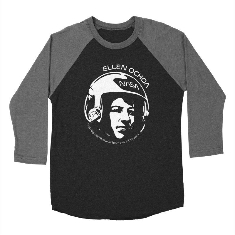 Women in Space: Ellen Ochoa Women's Baseball Triblend Longsleeve T-Shirt by Photon Illustration's Artist Shop