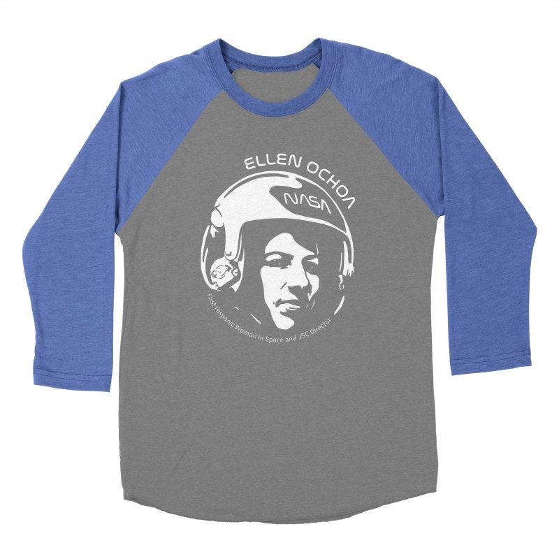 Women in Space: Ellen Ochoa Men's Baseball Triblend Longsleeve T-Shirt by Photon Illustration's Artist Shop