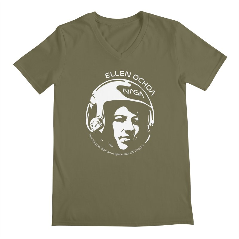 Women in Space: Ellen Ochoa Men's Regular V-Neck by Photon Illustration's Artist Shop