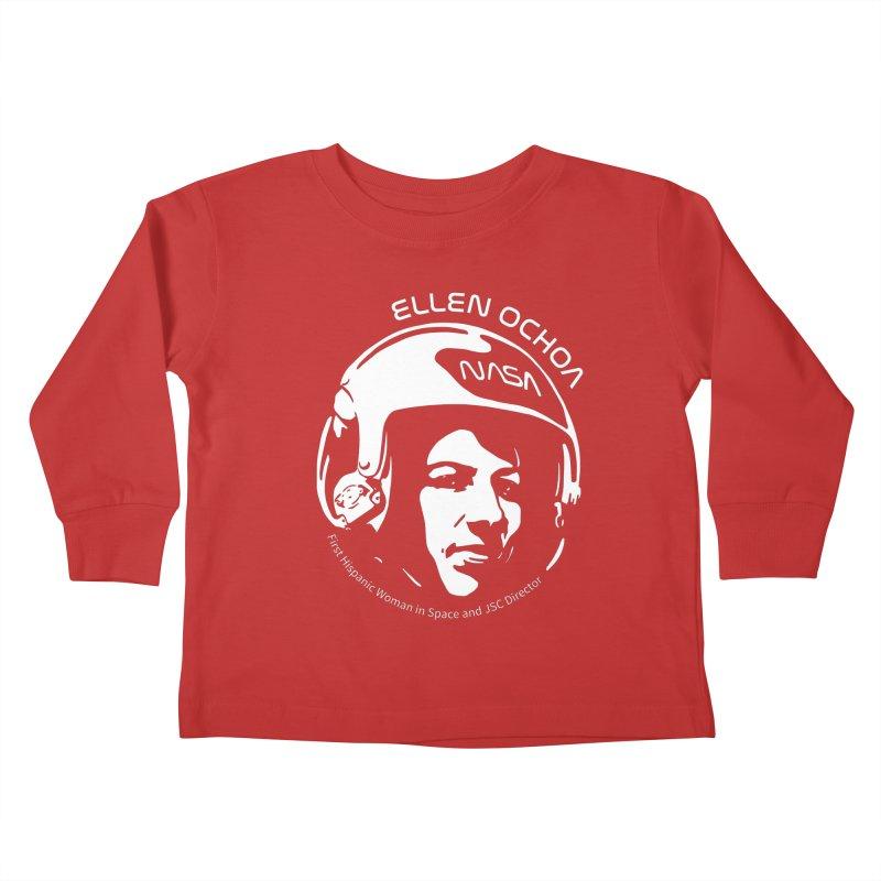 Women in Space: Ellen Ochoa Kids Toddler Longsleeve T-Shirt by Photon Illustration's Artist Shop