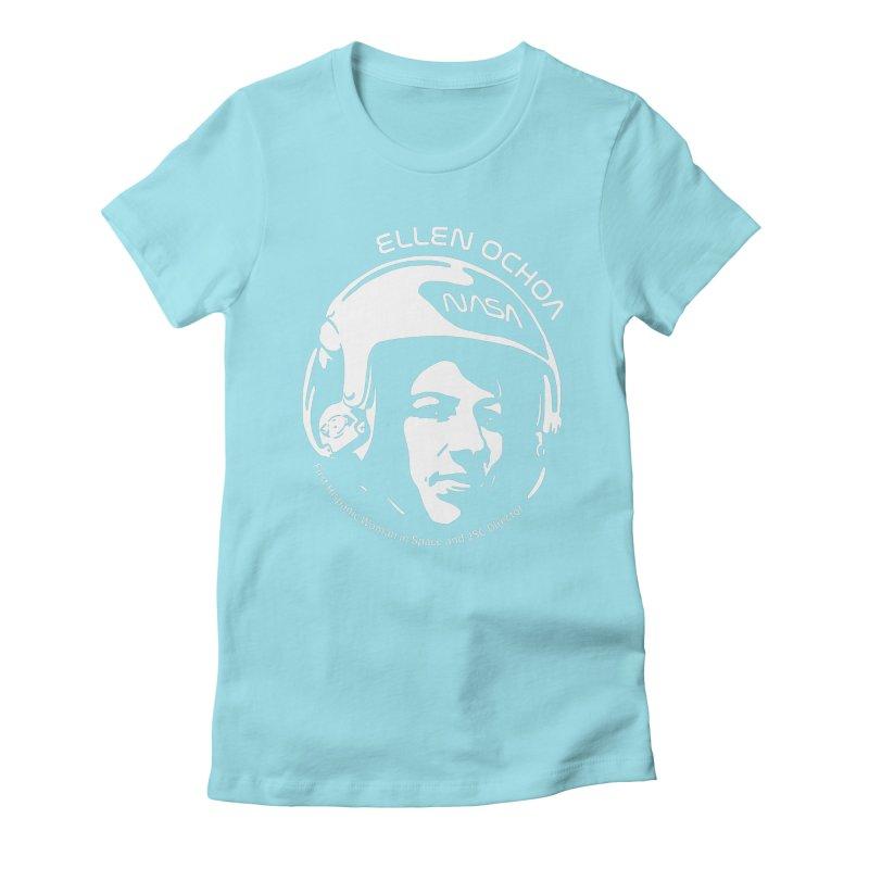 Women in Space: Ellen Ochoa Women's Fitted T-Shirt by Photon Illustration's Artist Shop