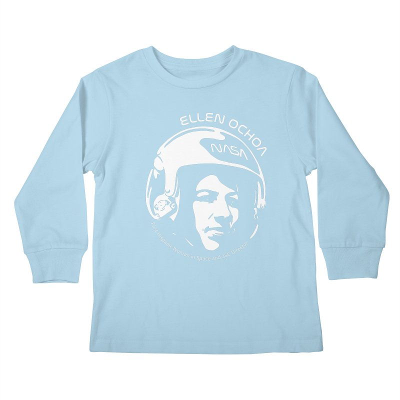 Women in Space: Ellen Ochoa Kids Longsleeve T-Shirt by Photon Illustration's Artist Shop