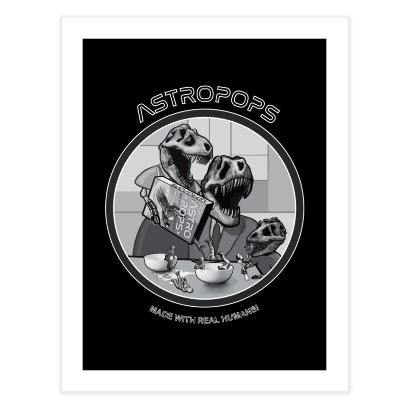 Astropops! Home Fine Art Print by Photon Illustration's Artist Shop