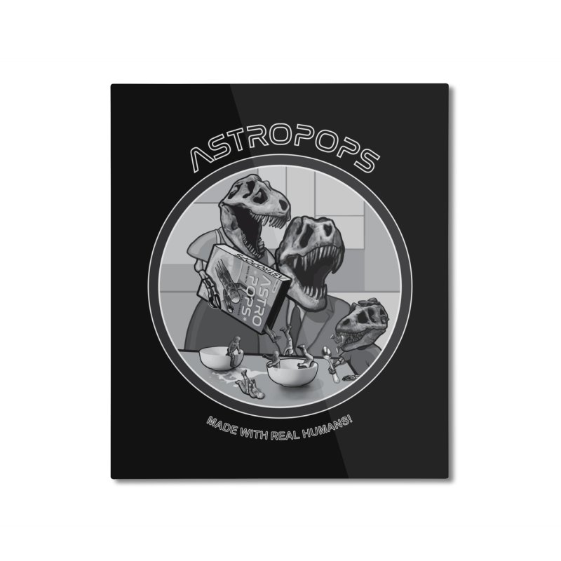 Astropops! Home Mounted Aluminum Print by Photon Illustration's Artist Shop