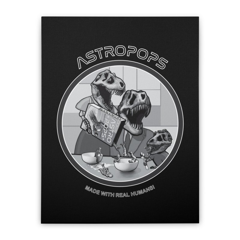 Astropops! Home Stretched Canvas by Photon Illustration's Artist Shop