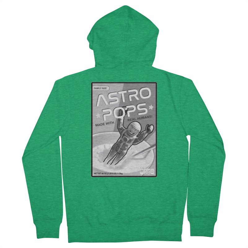 Astropops! The Breakfast Cereal of the Future! Men's French Terry Zip-Up Hoody by Photon Illustration's Artist Shop