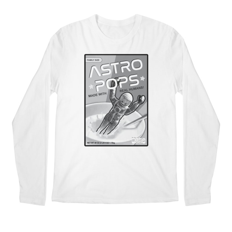 Astropops! The Breakfast Cereal of the Future! Men's Regular Longsleeve T-Shirt by Photon Illustration's Artist Shop