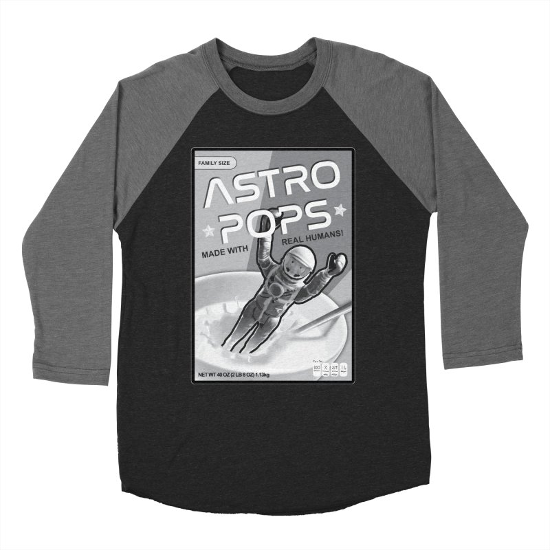 Astropops! The Breakfast Cereal of the Future! Men's Baseball Triblend Longsleeve T-Shirt by Photon Illustration's Artist Shop