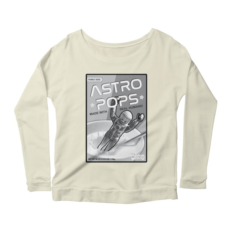 Astropops! The Breakfast Cereal of the Future! Women's Scoop Neck Longsleeve T-Shirt by Photon Illustration's Artist Shop