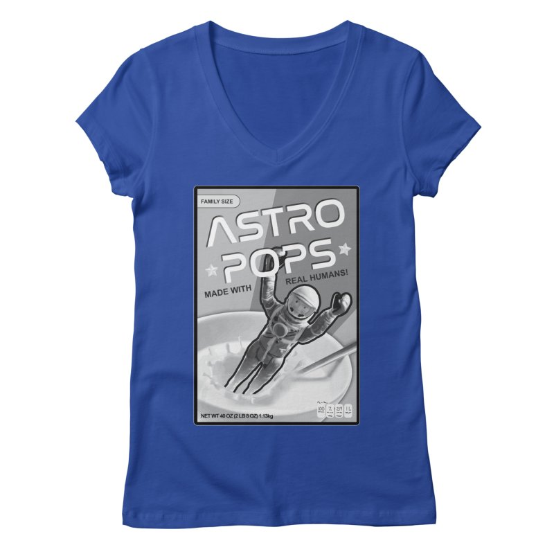 Astropops! The Breakfast Cereal of the Future! Women's Regular V-Neck by Photon Illustration's Artist Shop