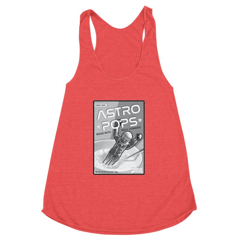 Astropops! The Breakfast Cereal of the Future! Women's Racerback Triblend Tank by Photon Illustration's Artist Shop