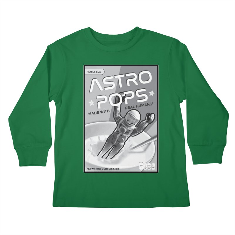 Astropops! The Breakfast Cereal of the Future! Kids Longsleeve T-Shirt by Photon Illustration's Artist Shop