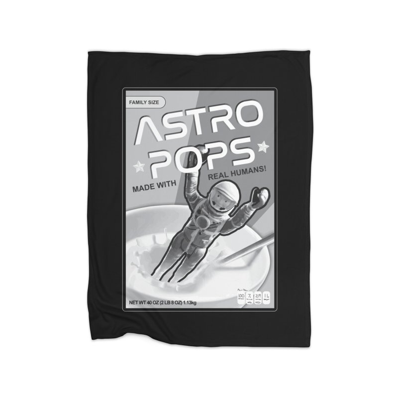 Astropops! The Breakfast Cereal of the Future! Home Blanket by Photon Illustration's Artist Shop