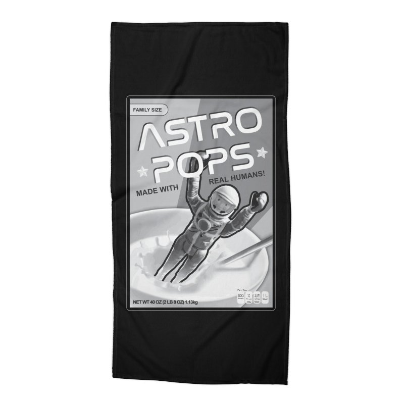 Astropops! The Breakfast Cereal of the Future! Accessories Beach Towel by Photon Illustration's Artist Shop