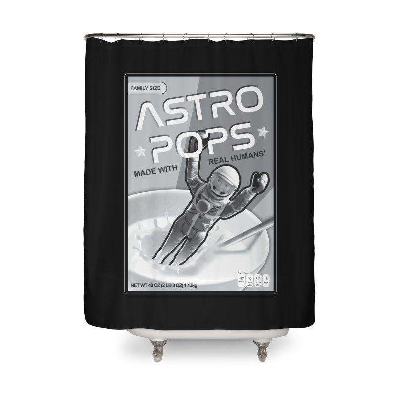Astropops! The Breakfast Cereal of the Future! Home Shower Curtain by Photon Illustration's Artist Shop