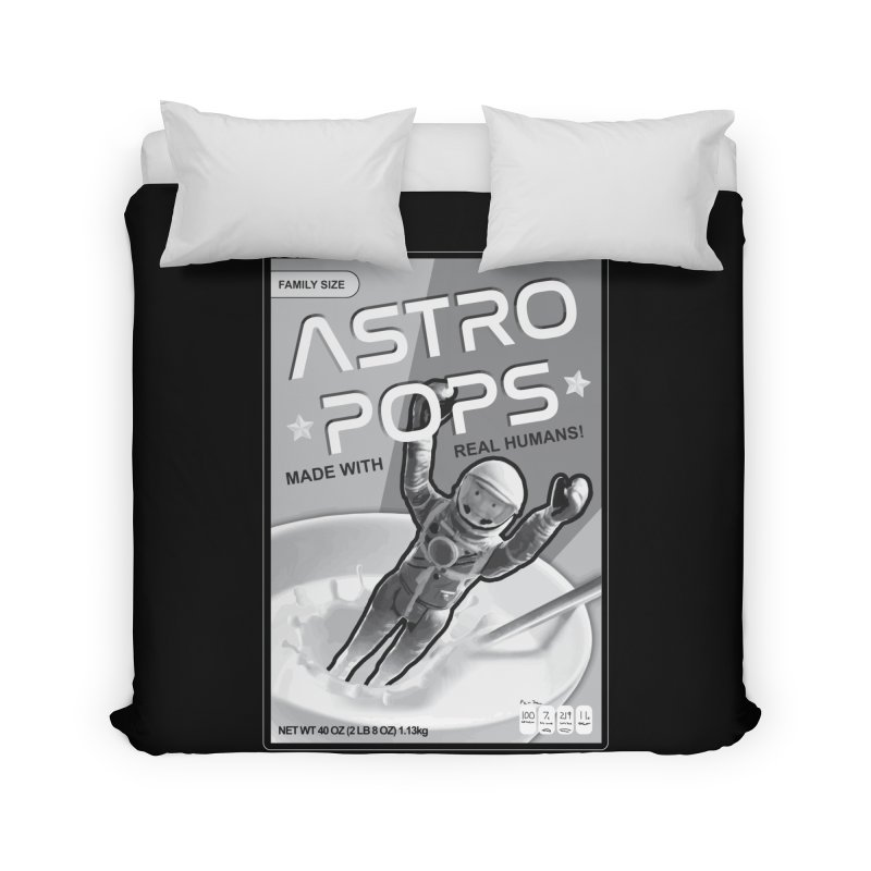 Astropops! The Breakfast Cereal of the Future! Home Duvet by Photon Illustration's Artist Shop