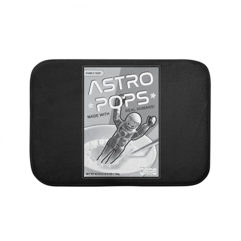 Astropops! The Breakfast Cereal of the Future! Home Bath Mat by Photon Illustration's Artist Shop