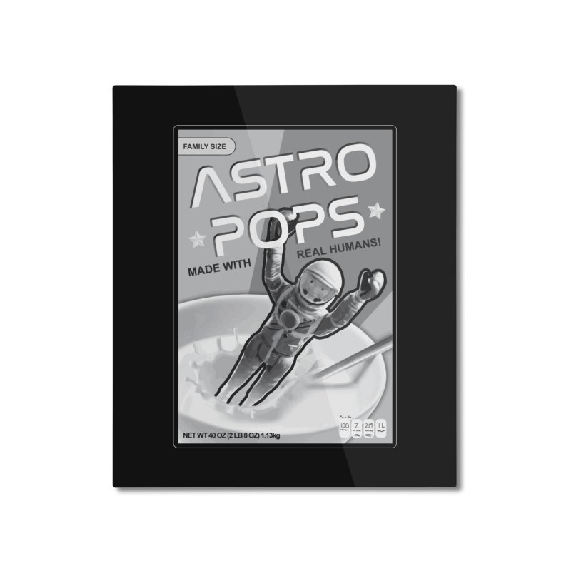 Astropops! The Breakfast Cereal of the Future! Home Mounted Aluminum Print by Photon Illustration's Artist Shop
