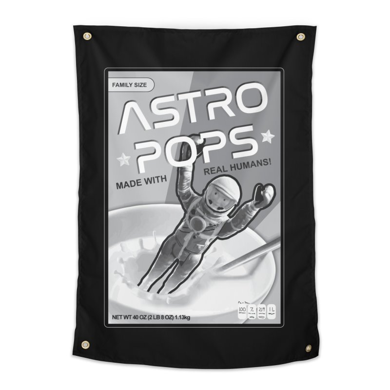 Astropops! The Breakfast Cereal of the Future! Home Tapestry by Photon Illustration's Artist Shop