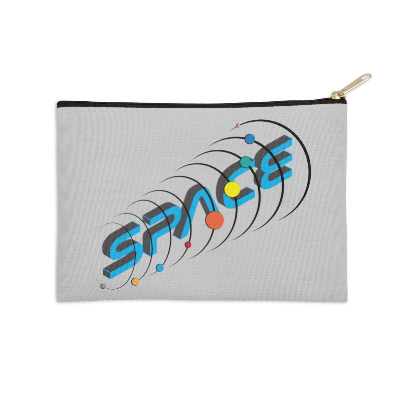 Space System Orbit Accessories Zip Pouch by Photon Illustration's Artist Shop