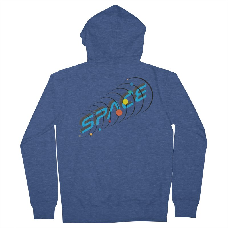 Space System Orbit Men's French Terry Zip-Up Hoody by Photon Illustration's Artist Shop