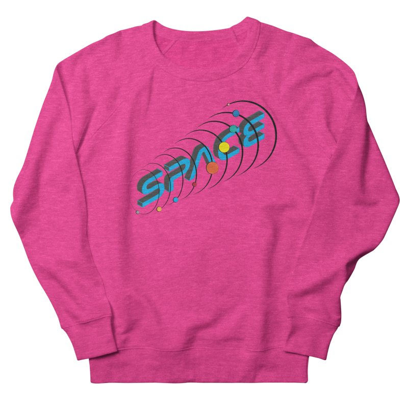 Space System Orbit Women's French Terry Sweatshirt by Photon Illustration's Artist Shop