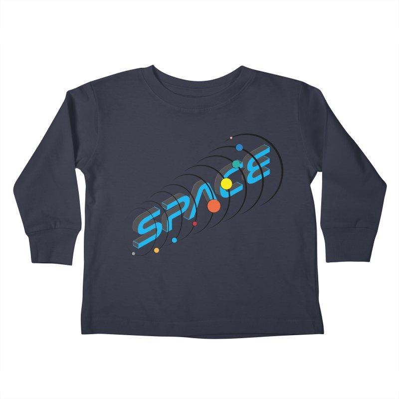 Space System Orbit Kids Toddler Longsleeve T-Shirt by Photon Illustration's Artist Shop